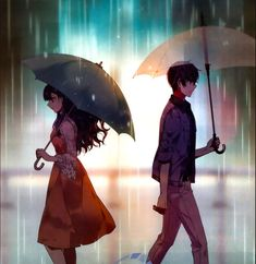 there was a part of me that still wanted to be with you, that still yearned for your soft touch, your love. but i knew that staying together will only hurt you and me. maybe, letting you go was the best and most painful decision. Cute Couple Drawings, Cute Couple Art, Anime Love Couple, Manga Couple, Anime Cupples, Anime Kawaii, Anime Guys, Sad Anime Couples, Anime Couples Drawings