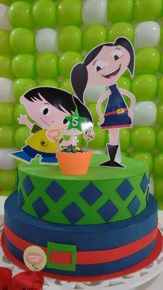 bolo e decoraçao festa show da luna