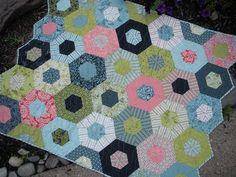 Here is another merry-go-round quilt.  I guess I'm being called to make one.