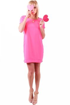Valentine's Day Look: Date Night-Hot Pink Dress! We are loving this look! Call to order: 337-993-0062