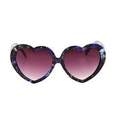 d15e0fee54a0 Blue Floral Heart Sunglasses  Petite Lemon  siblingtees