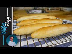 Domáce rožky ako z obchodu   Viktor Nagy   recept na rohlíky - YouTube Hot Dog Buns, Hot Dogs, Food And Drink, Youtube, Basket, Brot, Youtubers, Youtube Movies