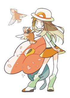 埋め込み leaf pidgey and vileplume Pokemon Rouge, Pokemon Red, Pokemon Comics, Pokemon Fan Art, Pokemon Games, Cute Pokemon, Pokemon Stuff, Pokemon People, Original Pokemon