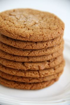 cinnamon, nutmeg, ginger, molasses cookies (direct link to the recipe)///Made these tonight: I doubled the cinnamon, nutmeg and used 1 tsp of ginger. I didn't have molasses so I substituted brown sugar for the white sugar. These were good and took only 5 minutes to mix up.