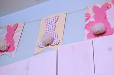 bunny banner made with card stock