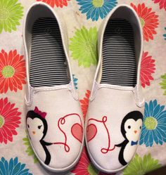 Women's custom hand painted canvas shoes by SolePaint on Etsy, $40.00