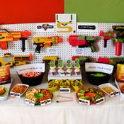 NERF Inspired Birthday Party - Dessert Tables & Printables - Hello My Sweet