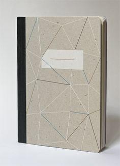 Quartz notebook by Papier Tigre. Diy Notebook, Notebook Design, Typography Layout, Graphic Design Typography, Book Presentation, Graphic Design Books, Origami, Stationary Design, Journal Design