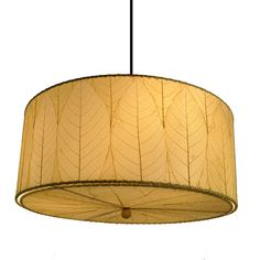 Eangee Home Design Fossilized Cocoa Leaves Natural Color Hanging Drum Pendant Lamp Large Pendant Lighting, Kitchen Pendant Lighting, Drum Pendant, Pendant Light Fixtures, Lighting Universe, Lantern Designs, Hanging Lights, Floor Lamp, House Design