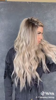 Half up double braids Half And Half Hair Color braids Double Badass Hairstyles, Cool Braid Hairstyles, Easy Hairstyles For Long Hair, Braids For Long Hair, Summer Hairstyles, Hairstyles Tumblr, Disco Hairstyles, Long Blonde Hairstyles, Casual Hairstyles For Long Hair