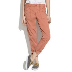 Madewell Campstitch Slouch Fatigues Pants