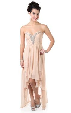 81a381b47ddf chiffon long prom dress with deep v beaded accent and high low skirt  Designer Prom Dresses