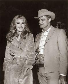 Jane Fonda y Marlon Brando