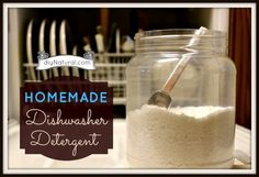 Homemade Dishwasher Detergent. I want to try this.