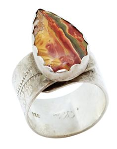 Gift for Her Mother/'s Day Sale Bijoux 925 Solid Silver Traditional Jewelry Authentic Jewellery Yellow PICTURE JASPER Ring Sz 7.25