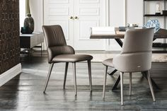 The Ginger dining chair is a stunning addition to any dining room with a comfortable backrest by Cattelan Italia. Available from IQ Furniture.