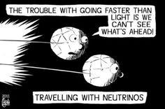Cartoon - Faster than light.