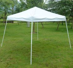 Outsunny 10' x 10' Instant Pop Up Canopy Slant Leg Tent - White