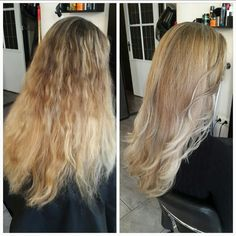 Haircut + highlights (silver pearl) & blowdry 💓  #salon #hairsalon #hairdresser #hairstylist #haircut #hairdye #hairdo #blowdry #silverpearl #hairstyling #beautifulhair #gorgeoushair #greathair #wavyhair #longhair #smoothhair #hairtrend #haironpoint #lovelyhair #highlights #matrixhair #newhaircolor #coloredhair #blondehair #blondehairdontcare #leeuwarden #silverhighlights