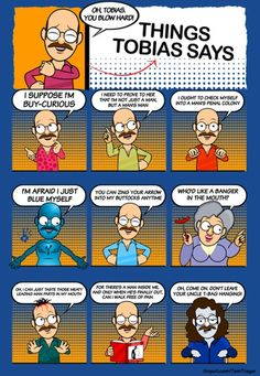 - Tobias adds the perfect comic relief in Arrested Development! Tobias Funke, Funny Celebrity Pics, Pop Culture References, Tv Quotes, The Funny, Funny Pix, Funny Images, Favorite Tv Shows, Best Tv