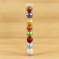 Multicolored Gumball Tube   1 ct - $2.45