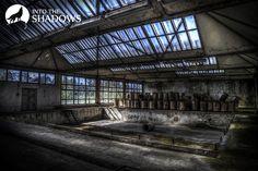 Opuszczona fabryka dziewiarska UNIA: Główna hala opuszczonej fabryki, najbardziej klimatyczna.