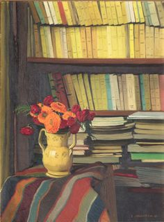 The subject is right there, in your room. La bibliothèque - Félix Vallotton, 1921