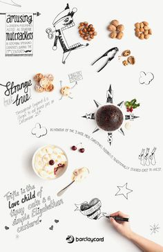 Barclaycard Christmas infographic by Gonzalo Azores Food Graphic Design, Design Food, Menu Design, Graphic Design Posters, Graphic Design Illustration, Layout Design, Flyer Design, Design Design, Christmas Treats