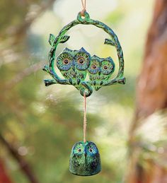 Owl wind chime looks japanese