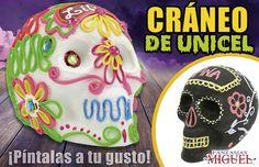 Cráneos De Unicel decorados / Halloween / Día de Muertos