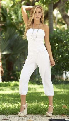ed63038112c8 CAPRI JUMPSUIT WITH RUCHED DETAIL All White Party Outfits