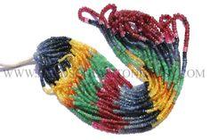 Gemstone Beads, Multi Precious Faceted Roundel (Quality A+) / 2.50 to 3.50 mm / 39 cm / MU-006 by beadsogemstone on Etsy #multipreciousbeads #gemstonebeads #semipreciousstones #semipreciousbeads #briolettes #jewelrymaking #craftsupplies