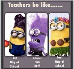 Minion teacher humor.