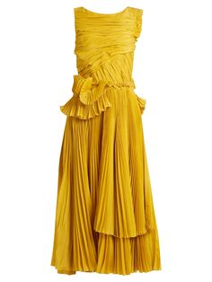 A dream dress. Rochas Pleated cotton and silk-blend.
