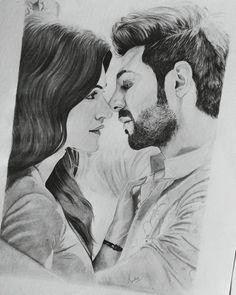 Kartik aaryan & kriti sanon sketch from Lukka Chuppi Pencil Sketch Images, Pencil Sketch Portrait, Pencil Art Drawings, Drawing Art, Sketches Of Love Couples, Couple Sketch, Cute Couple Drawings, People Art, Real People