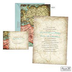 Vintage Map Wedding Invitation #destination #wedding #travel - http://invitations.michaels.com/Wedding-Invitations/View-All-Wedding-Invitations/2988-MK26139FC-Vintage-Map-Wedding-Invitation.pro
