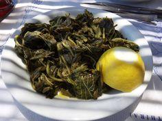 sauteed sea-grass with lemon and garlic