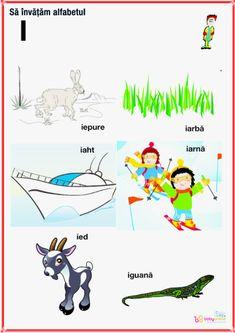 fise imagini reprezentative ale literelor din alfabet | Cu Alex la gradinita Oracle Cards, Alphabet, Homeschool, Letters, Learning, Logos, Kids, Rome, Bebe