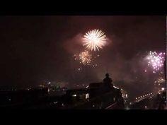 New year 2013 - Fireworks over Stockholm, Sweden