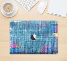 """The Sketched Blue Word Surface Skin Kit for the 12"""" Apple MacBook from DesignSkinz"""