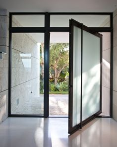 pivot entry door modern architecture Entry Doors, Future House, Modern Architecture, Windows, Studio, Entry Gates, Front Doors, Modernism, Study