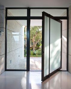 pivot entry door modern architecture Entry Doors, Modern Architecture, Future House, Facade, Windows, Stone, Studio, Ideas, Doors