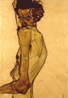Egon Schiele (Austrian and pupil of Klimt) drawings, 300 paintings and dead at killed during WWI Gustav Klimt, Life Drawing, Painting & Drawing, Frieze Masters, Robert Rauschenberg, Edward Hopper, Pencil Portrait, Art Design, Van Gogh