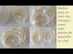 Motivo para un chal «las almejas» como tejer patrón de ganchillo un chal...