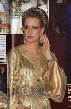 Princess Lalla Salma of Morocco in the wedding of her brother in law Moulay Rachid with Oum Kalthum. 2014