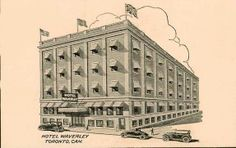 The Hotel Waverly in its 1920s hey day...before it was a flop house