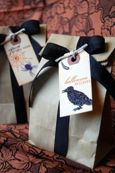 pretty packages for Halloween gifts