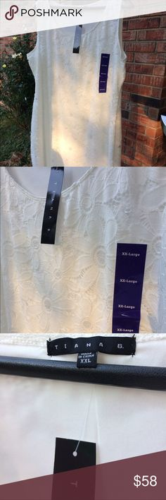 Tiana B white dress New With Tags, perfect condition Tiana B Dresses