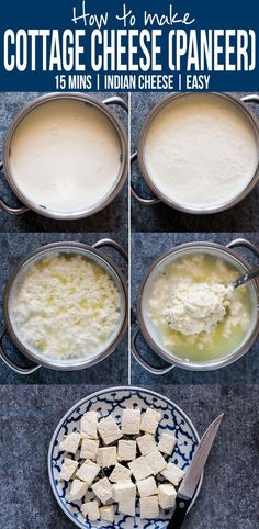 Here's step by step instructions to make homemade Indian paneer (cottage cheese) in just 15 minutes. The next time you want to make saag paneer, palak paneer, makhani, tikka or matar paneer, don't buy store bought and just make this at home with 2 ingredients.  via @my_foodstory