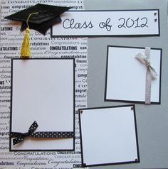 CLaSS of 2013 12x12 Premade Scrapbook Pages -- Graduation Commencement via Etsy